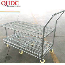 galvanized cart warehouse flat cargo trolley JHD-WHT-048
