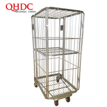 metal cage cart trolley with wheels