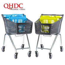 Supermarket Shopping Cart Plastic Trolley with child seat JHD-S-P